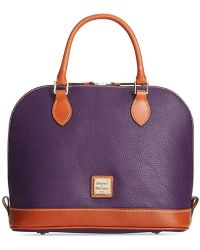 Dooney & Bourke - Pebble Zip Zip Satchel - Lyst
