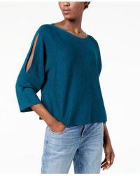 Eileen Fisher   Split-sleeve Sweater, Regular & Petite   Lyst