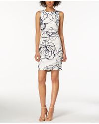 Ivanka Trump - Printed Starburst Sheath Dress - Lyst