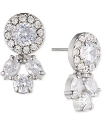 Carolee | Silver-tone Crystal Front-back Earrings | Lyst
