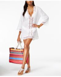 La Blanca - Cotton Crochet-trimmed Tunic - Lyst
