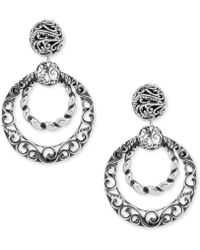 Carolyn Pollack - Filigree Gypsy Hoop Earrings In Sterling Silver - Lyst