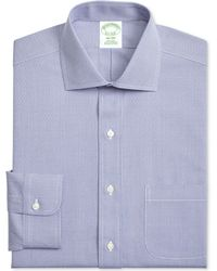 Brooks Brothers - Men's Extra-slim Fit Non-iron Navy Dobby Dress Shirt - Lyst