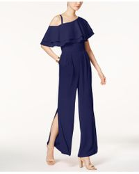 Vince Camuto - Ruffled One-shoulder Jumpsuit - Lyst