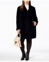 Jones New York - Plus Size Faux-fur Coat - Lyst