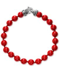 Scott Kay - Men's Red Shell Pearl (8mm) Bead Bracelet In Sterling Silver - Lyst