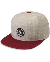 Volcom - Quarter Snap-back Hat - Lyst