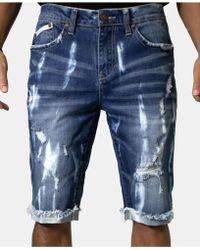 Heritage America - Indigo Denim Shorts - Lyst