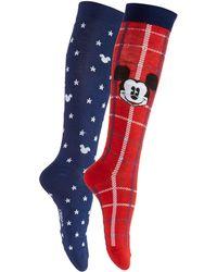 Disney - Women's 2-pk. Plaid Mickey Mouse Knee-high Socks - Lyst