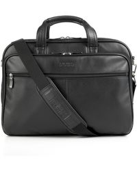 Kenneth Cole Reaction - Kenneth Cole Leather Double Gusset Top Zip Portfolio - Lyst