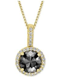 Macy's - Diamond Pendant Necklace (1 Ct. Tw.) In 14k Yellow, White Or Rose Gold - Lyst