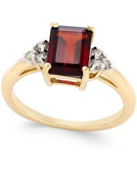 Macy's | Rhodolite Garnet (1-9/10 Ct. T.w.) And Diamond (1/8 Ct. T.w.) Ring In 14k Gold | Lyst