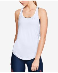 Under Armour - Heatgear Mesh Racerback Tank Top - Lyst