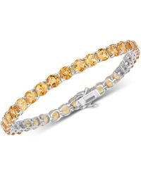 Macy's - Citrine (18 Ct. T.w) Bracelet In Sterling Silver (also Available In Blue Topaz) - Lyst