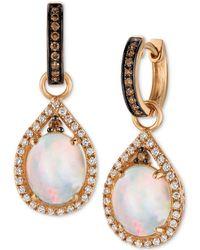 Le Vian - Chocolatier® Neopolitan Opaltm (2-3/8 Ct. T.w.) And Diamond (5/8 Ct. T.w.) Drop Earrings In 14k Rose Gold - Lyst