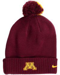 f84d3501e21 Nike - Minnesota Golden Gophers Beanie Sideline Pom Hat - Lyst