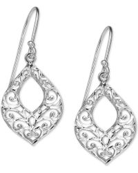 Giani Bernini - Filigree Openwork Drop Earrings In Sterling Silver, Created For Macy's - Lyst