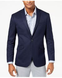 Kenneth Cole Reaction - Slim-fit Stretch Navy/blue Pin-dot Sport Coat - Lyst
