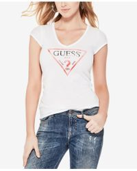 Guess - V-neck Graphic T-shirt - Lyst