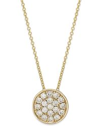 Effy Collection - Diamond Disk Pendant Necklace (1/4 Ct. T.w.) In 14k White Gold - Lyst