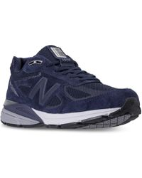 New Balance - Men's 990 V4 Reflective Running Sneakers From Finish Line - Lyst