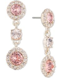 Givenchy - Silver-tone Clear & Colored Crystal Triple Drop Earrings - Lyst
