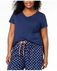 Hue - ® Plus Size Solid V-neck Pyjama Top - Lyst
