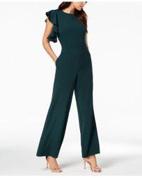Julia Jordan - Asymmetrical Flutter-sleeve Jumpsuit - Lyst