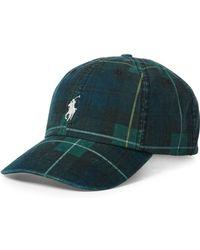 Lyst - Polo Ralph Lauren Tartan Martini Bear Cuff Hat (black ... e68e9cf22b16