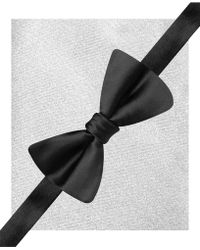 Alfani - Sateen Solid Pre-tied Bow Tie & Pocket Square Set - Lyst