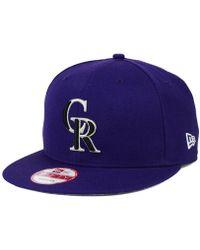 sale retailer fa8a7 4f2d0 KTZ - Colorado Rockies 2-tone Link 9fifty Snapback Cap - Lyst