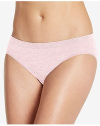 Jockey - Smooth And Shine Seamfree Heathered Bikini 2186, Available In Extended Sizes - Lyst