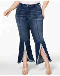 INC International Concepts - I.n.c. Plus Size Tulip-hem Jeans, Created For Macy's - Lyst