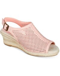 Easy Street - Stacy Wedge Sandals - Lyst