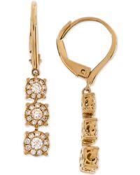 Macy's - Diamond Triple Halo Drop Earrings (1/2 Ct. T.w.) In 14k Gold - Lyst