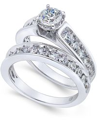Macy's - Certified Diamond Bridal Set (2 Ct. T.w.) In 14k White Gold - Lyst