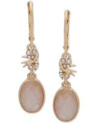 Lonna & Lilly - Gold-tone Crystal & Stone Double Drop Earrings - Lyst