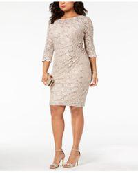 Alex Evenings - Plus Size Sequined Lace Dress - Lyst
