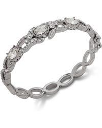 Jenny Packham - Silver-tone Stone & Crystal Bangle Bracelet - Lyst