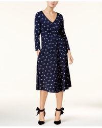 Weekend by Maxmara - Klausen Bow-print Midi Dress - Lyst