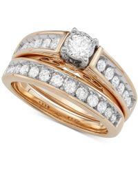 Macy's - Diamond Bridal Set (1 Ct. T.w.) In 14k Gold - Lyst