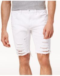 """INC International Concepts - Men's Ripped 9"""" Shorts - Lyst"""