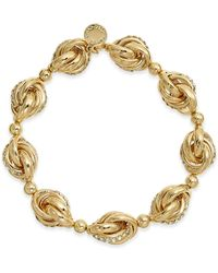 Charter Club - Gold-tone Crystal Infinity Link Stretch Bracelet, Created For Macy's - Lyst