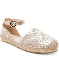 Andre Assous - Ingrid Perforated Espadrille Flats - Lyst