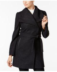 INC International Concepts - Wool-blend Oversize-collar Walker Coat - Lyst