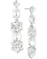 Givenchy - Silver-tone Crystal Cluster Drop Earrings - Lyst