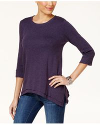 Style & Co. - Layered-hem Top, Created For Macy's - Lyst
