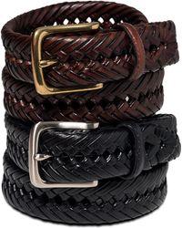Tommy Hilfiger - Belt, Braided Leather Belt - Lyst