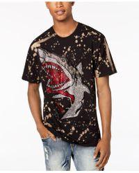Reason - Rhinestone Shark Splatter Graphic T-shirt - Lyst