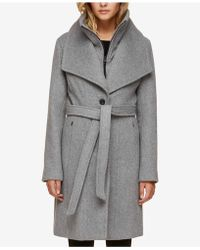 SOIA & KYO - Belted Oversized-collar Coat - Lyst